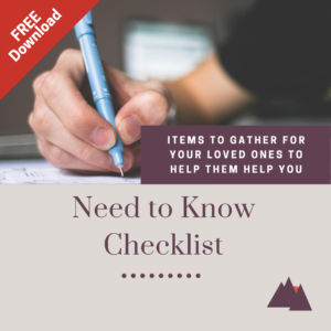 Need to Know Checklist